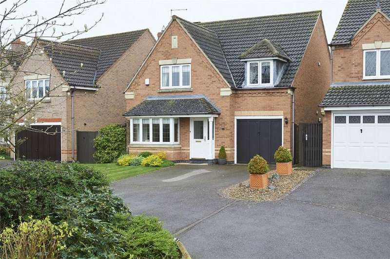 4 Bedrooms Detached House for sale in Monroe Close, Market Harborough, Leicestershire