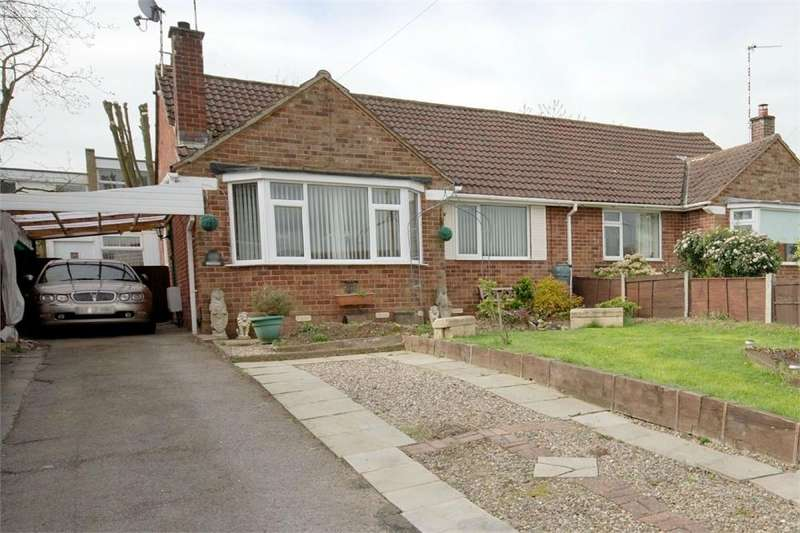 2 Bedrooms Semi Detached Bungalow for sale in Tennyson Avenue, Shakespeare Gardens, RUGBY, Warwickshire