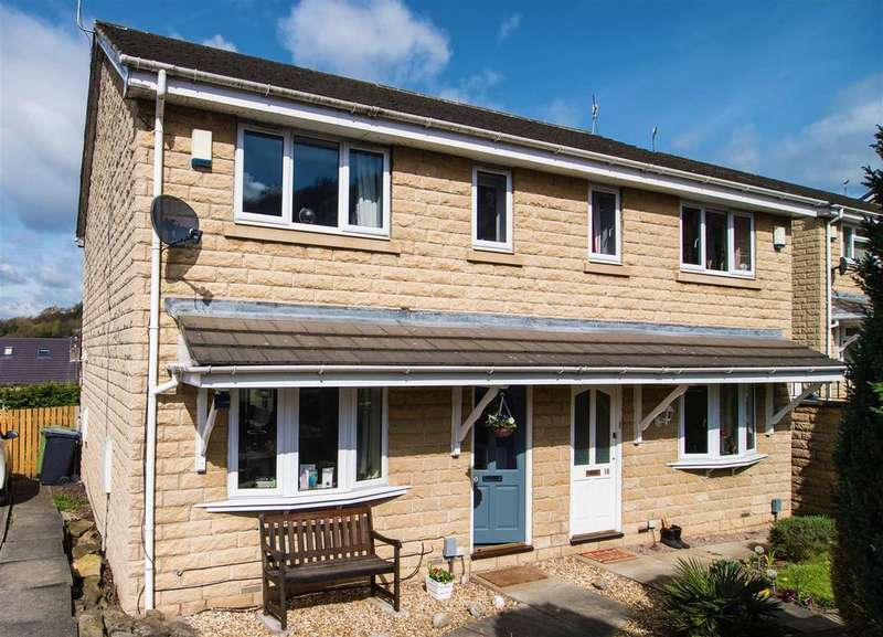 3 Bedrooms Semi Detached House for sale in Kilburn Close, Almondbury, Huddersfield, HD5 8LH