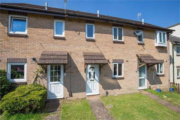 2 Bedrooms Terraced House for sale in Mellons Walk, Bradley Valley, Newton Abbot, Devon. TQ12 1YT
