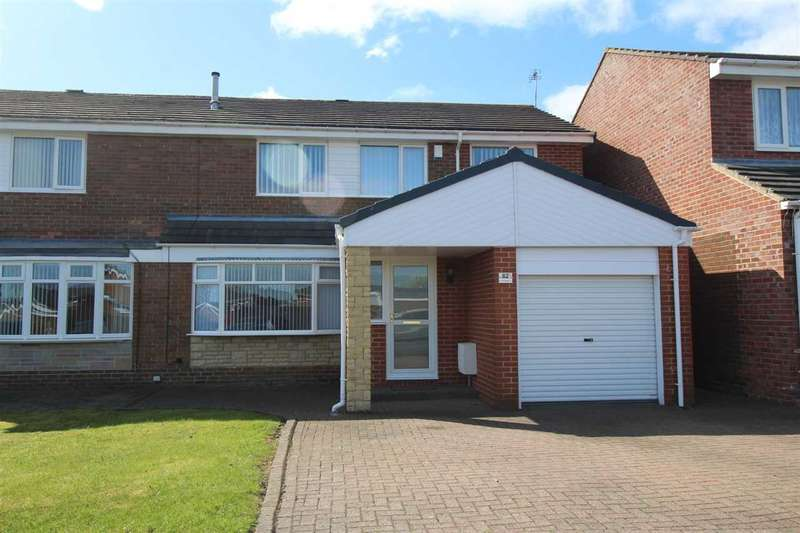 4 Bedrooms Semi Detached House for sale in Porchester Drive, Eastfield Chase, Cramlington