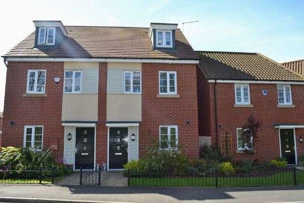 3 Bedrooms Semi Detached House for sale in Narrowboat Lane, Hunsbury Meadows, Northampton NN4 9DB
