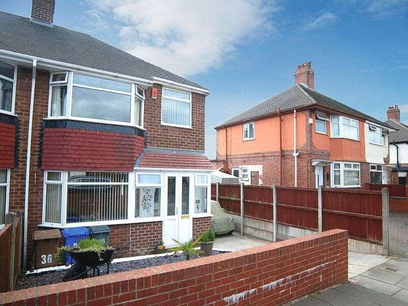 3 Bedrooms Semi Detached House for sale in Poplar Drive, Blurton, Stoke-On-Trent, ST3 3AZ