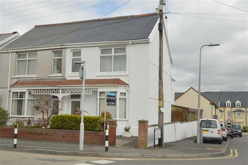 3 Bedrooms Semi Detached House for sale in Gorwydd Road, Gowerton, Swansea
