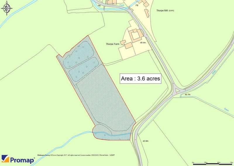 Land Commercial for sale in Land Adjacent To Thorpe Farm, Thorpe Lane, Tealby, Market Rasen, LN8