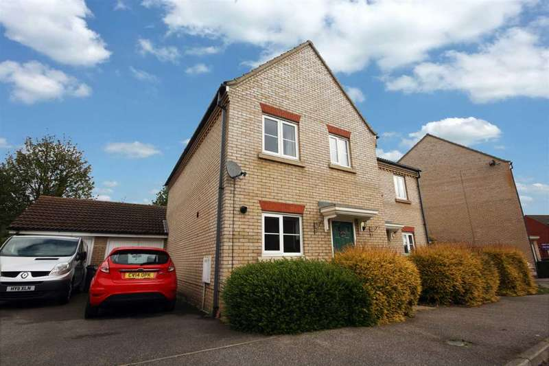 3 Bedrooms Semi Detached House for sale in Worsdell Close, Ipswich