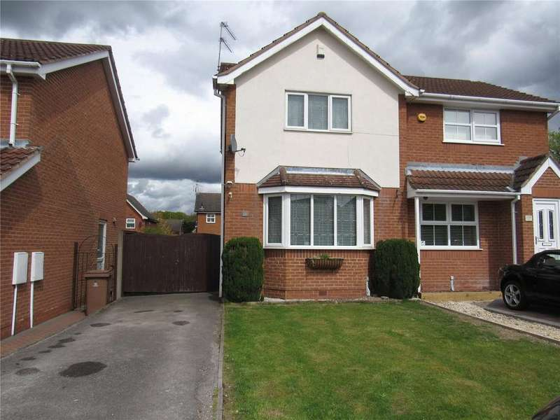 2 Bedrooms Semi Detached House for sale in Cawthorne Way, Mansfield, Nottinghamshire, NG18