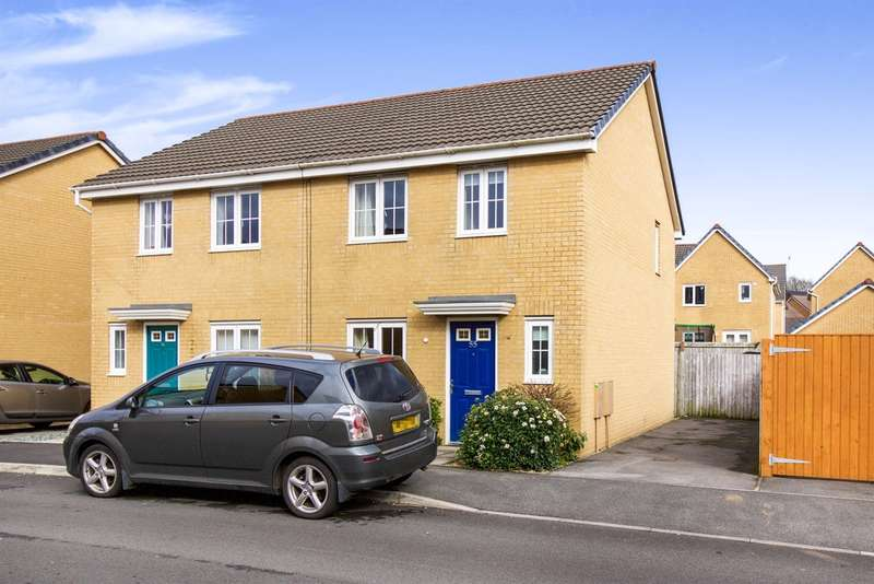 3 Bedrooms Semi Detached House for sale in Heol Bryncethin, Sarn, Bridgend