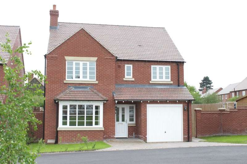 4 Bedrooms Detached House for sale in De Quincey Fields, Shrewsbury, Shropshire, SY4