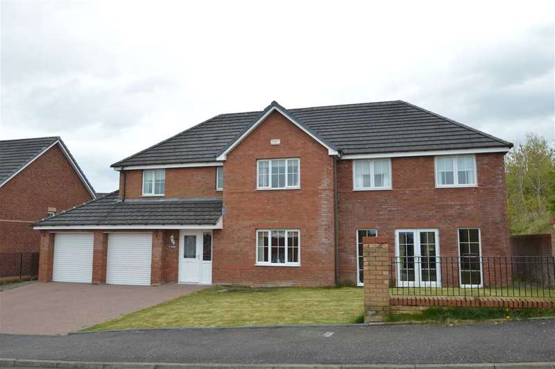 5 Bedrooms Detached House for sale in Aberdour Court, Westcraigs, Blantyre- 5 bedroom detached with sizeable 2 storey extension on large plot