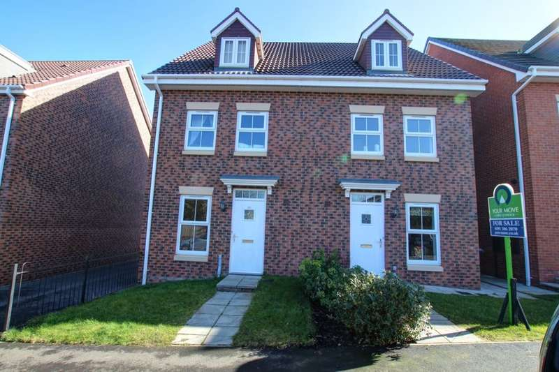 3 Bedrooms Semi Detached House for sale in Holly Crescent, Sacriston, Durham, DH7