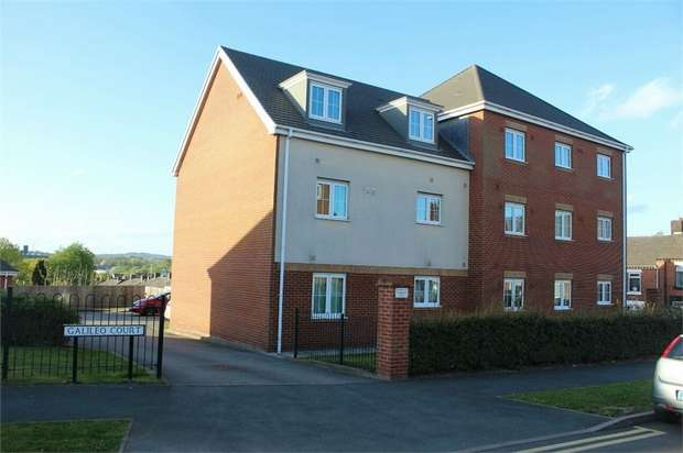 2 Bedrooms Flat for sale in Galileo Court, Stoke-on-Trent, Staffordshire