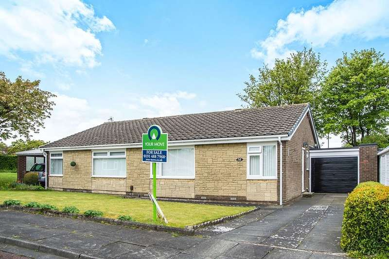 2 Bedrooms Semi Detached Bungalow for sale in Highgreen Chase, Whickham, Newcastle Upon Tyne, NE16