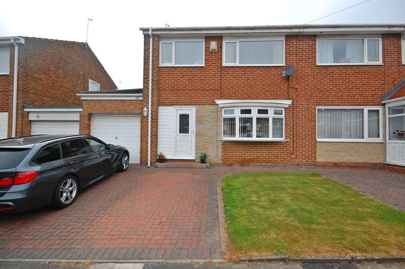 3 Bedrooms Semi Detached House for sale in Wolsingham Drive, Newton Hall, Durham