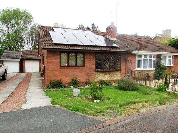 2 Bedrooms Semi Detached Bungalow for sale in LYSTER CLOSE, SEAHAM, SEAHAM DISTRICT
