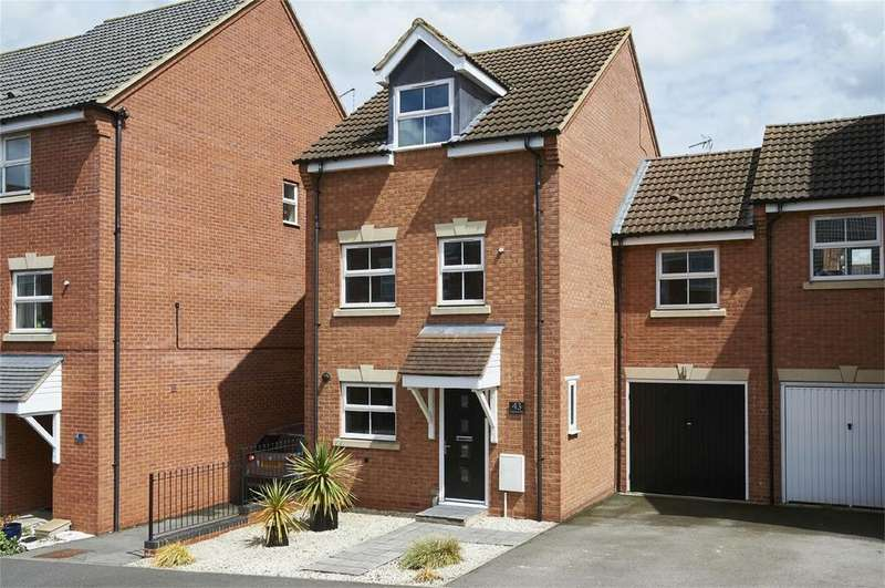 4 Bedrooms Link Detached House for sale in Tungstone Way, Market Harborough, Leicestershire