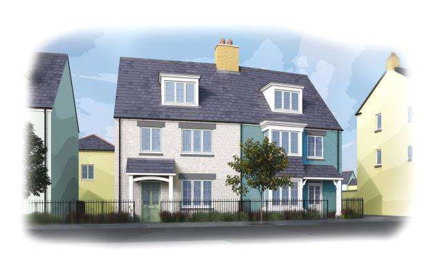 3 Bedrooms Semi Detached House for sale in Stret Uther Penndragon, Quintrell Road, Newquay, Cornwall