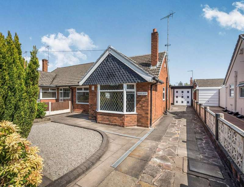 2 Bedrooms Semi Detached Bungalow for sale in Applewood Crescent, Catchems Corner, Stoke-On-Trent, ST3