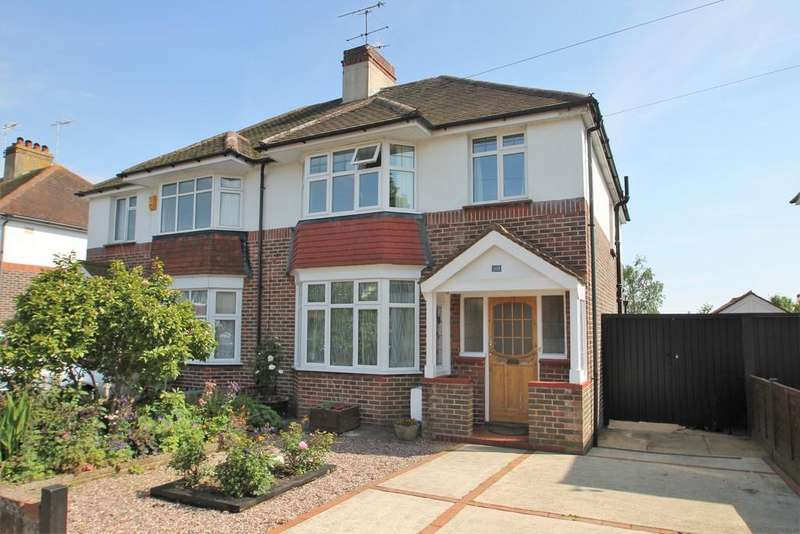 3 Bedrooms Semi Detached House for sale in Broomfield Avenue, Worthing, BN14 7SD