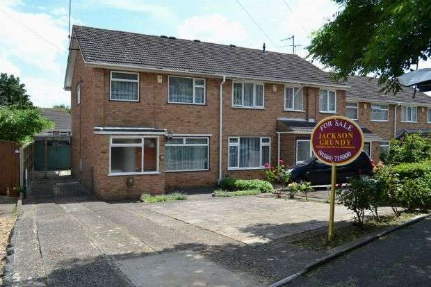 3 Bedrooms Semi Detached House for sale in Thruxton Drive, Parklands, Northampton NN3 6ES