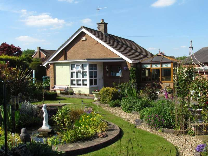2 Bedrooms Detached Bungalow for sale in Hampton Close, Oswestry SY11