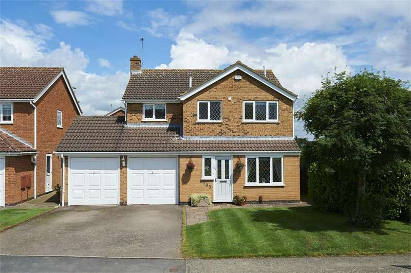 4 Bedrooms Detached House for sale in Rainsborough Gardens, Market Harborough, Leicestershire