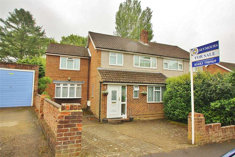 4 Bedrooms Semi Detached House for sale in Limewood Close, Woking, Surrey, GU21