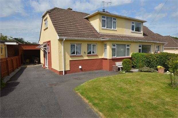 3 Bedrooms Semi Detached House for sale in Manor Drive, Kingskerswell, Newton Abbot, Devon. TQ12 5HB