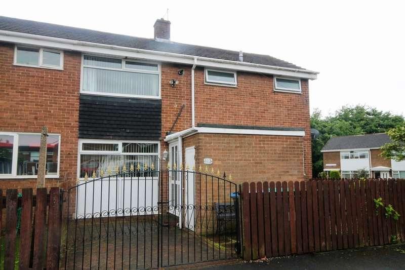 3 Bedrooms Semi Detached House for sale in Castledene Road, Delves Lane, Consett, DH8