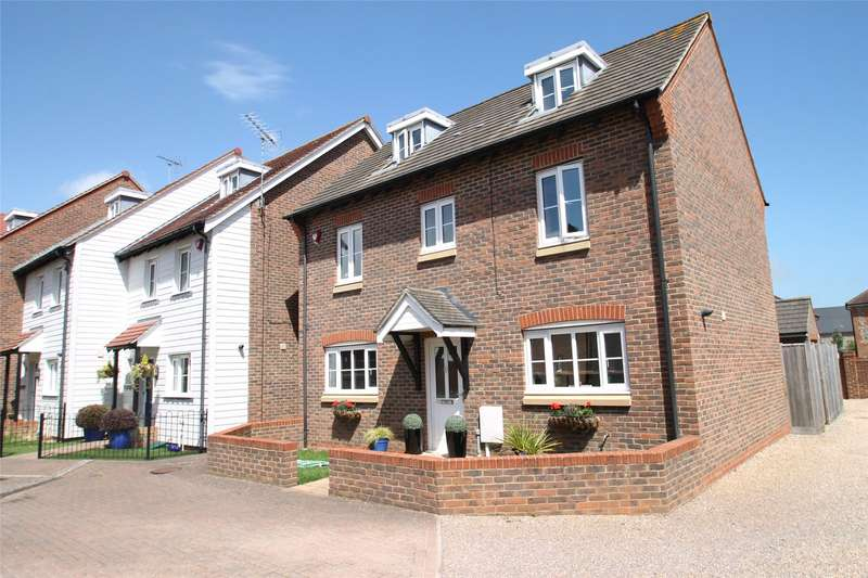 5 Bedrooms Detached House for sale in Lucksfield Way, Angmering, West Sussex, BN16
