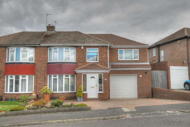4 Bedrooms Semi Detached House for sale in Langdon Road, Hillheads Estate, Newcastle Upon Tyne, NE5