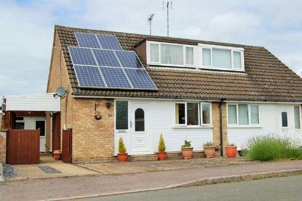 2 Bedrooms Semi Detached House for sale in Ennerdale Close, Daventry, Northants NN11 9EF