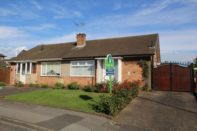 2 Bedrooms Semi Detached Bungalow for sale in Glendon Drive, Hucknall, Nottingham, NG15