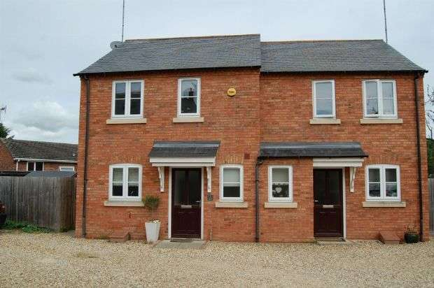 2 Bedrooms Semi Detached House for sale in Stanford Mews, Weedon, Northampton NN7 4GE