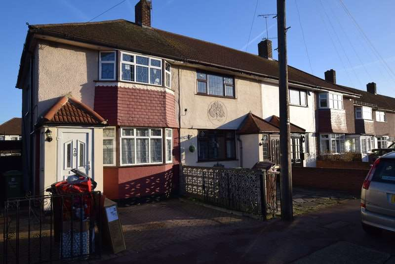 2 Bedrooms End Of Terrace House for sale in Bosworth Road, Dagenham, Essex, RM10