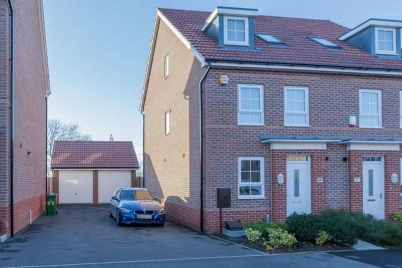 4 Bedrooms Semi Detached House for sale in Sanderling Way, Mansfield, Nottinghamshire, NG19