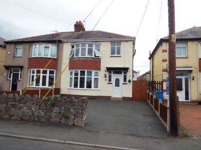 3 Bedrooms Semi Detached House for sale in Trellewelyn Road, Rhyl, Denbighshire, Uk, LL18