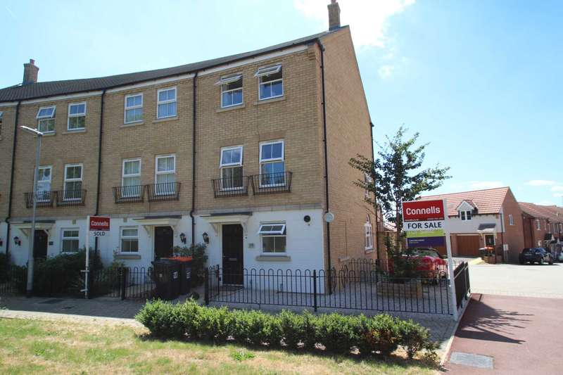 4 Bedrooms End Of Terrace House for sale in Alabaster Avenue, Houghton Regis, LU5 5AZ