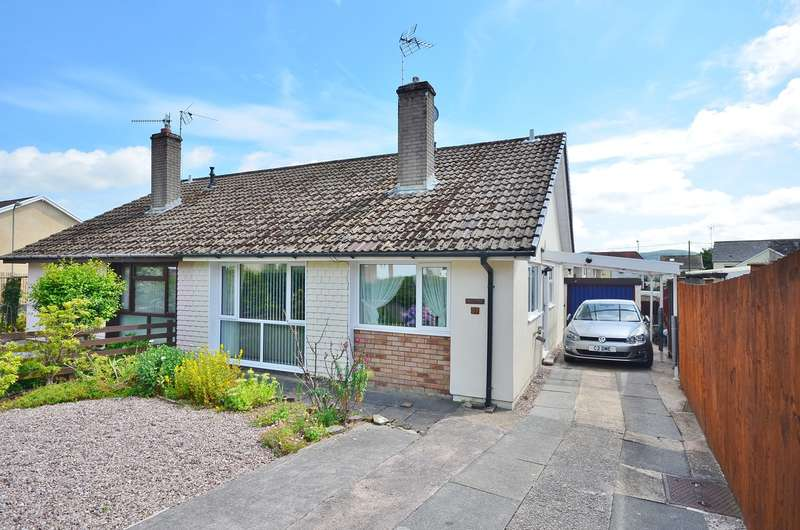 2 Bedrooms Semi Detached Bungalow for sale in Cherry Tree Close, Bedwas, Caerphilly, CF83