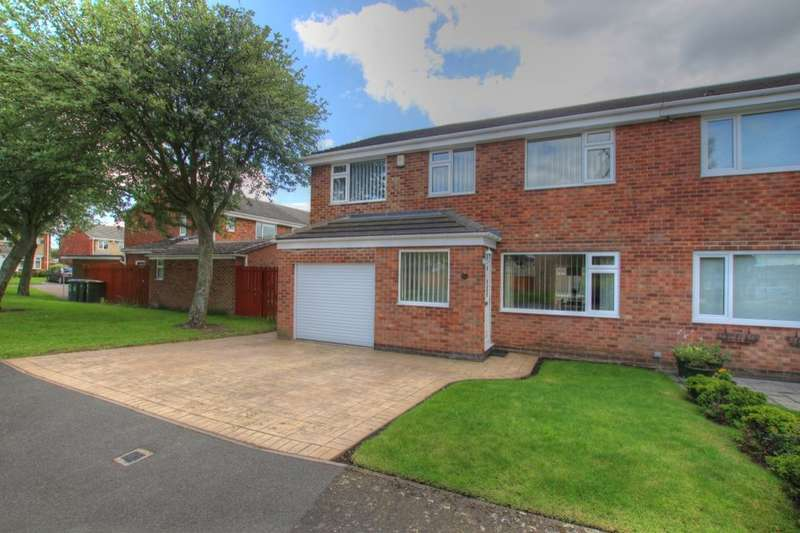 4 Bedrooms Semi Detached House for sale in Abbotside Close, Ouston, Chester Le Street, DH2