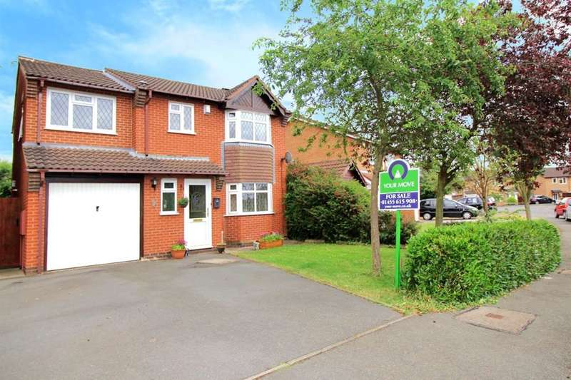 4 Bedrooms Detached House for sale in Coldstream Close, Hinckley, LE10