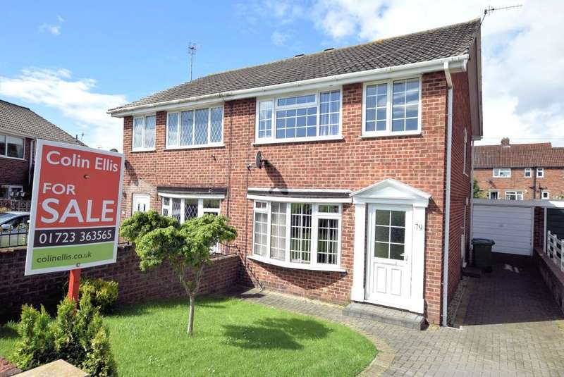 3 Bedrooms Semi Detached House for sale in Eastway, Eastfield, Scarborough, North Yorkshire YO11 3LS