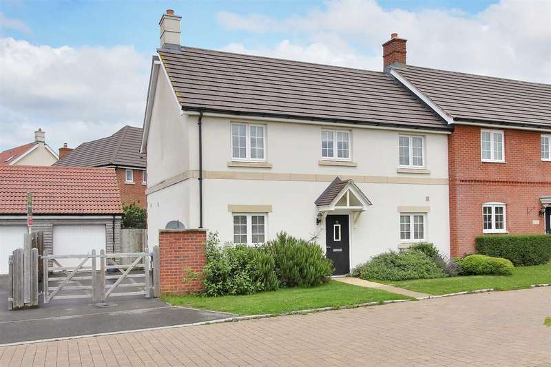 4 Bedrooms Semi Detached House for sale in Norman Drive, Old Sarum, Salisbury