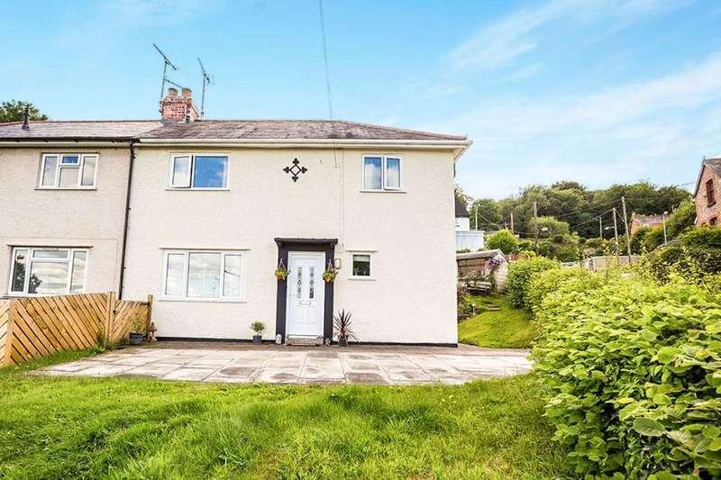 2 Bedrooms Semi Detached House for sale in Woodlands Grove, Froncysyllte, Llangollen, LL20