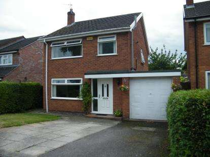 3 Bedrooms Detached House for sale in Woolston Drive, Hough, Crewe, Cheshire