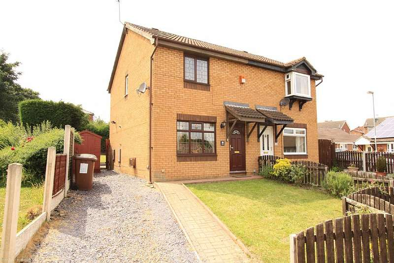3 Bedrooms Semi Detached House for sale in Aberfield Drive, Crigglestone, West Yorkshire, WF4 3PT