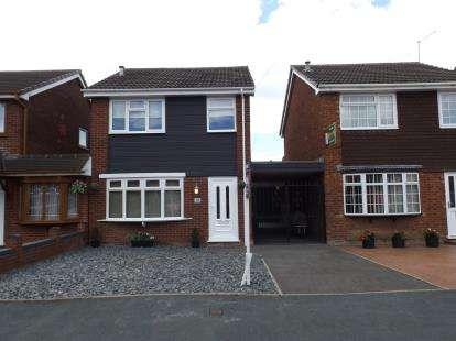 3 Bedrooms Link Detached House for sale in Greenhill Close, Willenhall, West Midlands