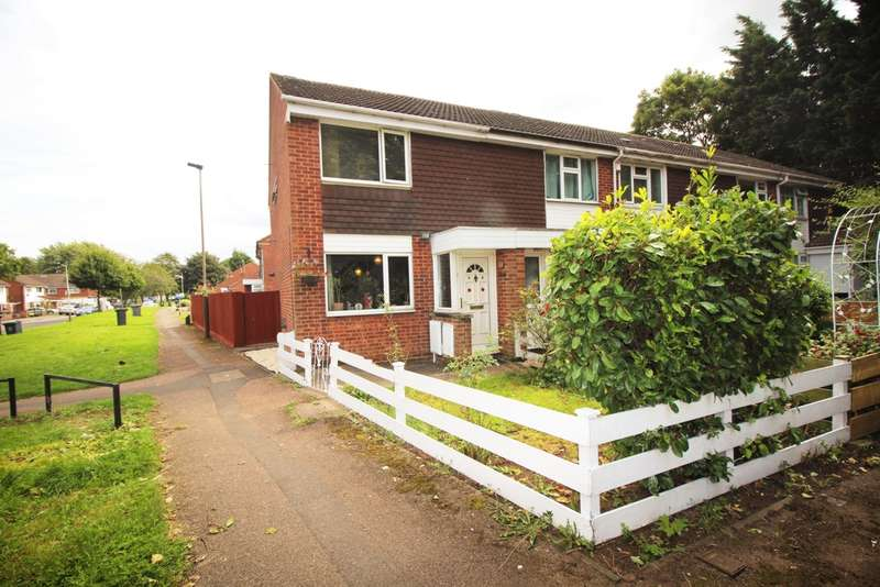 2 Bedrooms End Of Terrace House for sale in Huggett Close, Leicester, LE4
