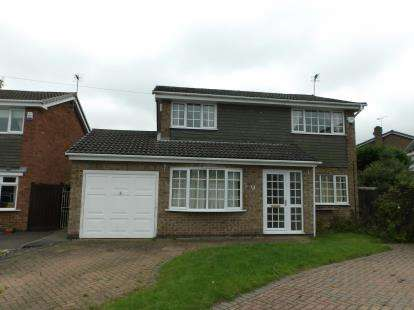 4 Bedrooms Detached House for sale in Drome Close, Coalville