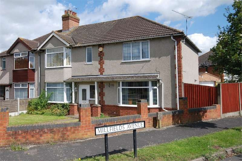 4 Bedrooms Semi Detached House for sale in Kingsley Avenue, Hillmorton, RUGBY, Warwickshire